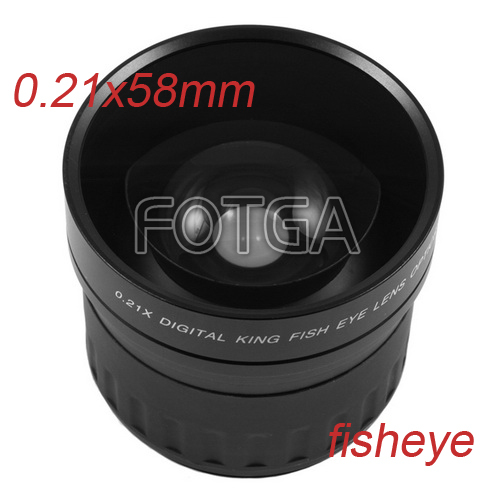 Fotga 58mm 0.21X Wide Angle Fisheye Lens for Canon 600D Nikon d90 Sony Pentax DSLR Cameras 52mm 0 21x fixed fisheye wide angle lens with removable hood for canon nikon sony dslr camera