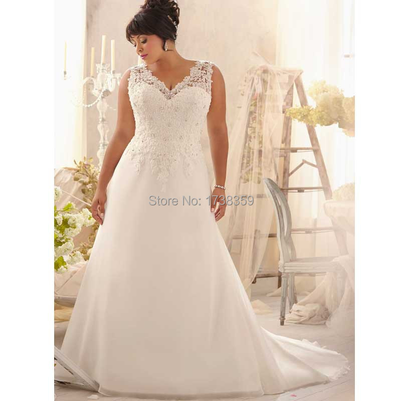 Popular super plus size wedding dresses buy cheap super for Plus size wedding dresses size 32 and up
