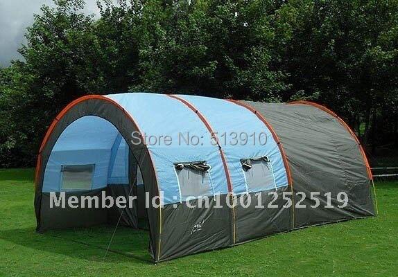 10 persone grande famiglia tenda/tenda di campeggio/tenda tunnel/1 Hall 2 stanza tenda del partito