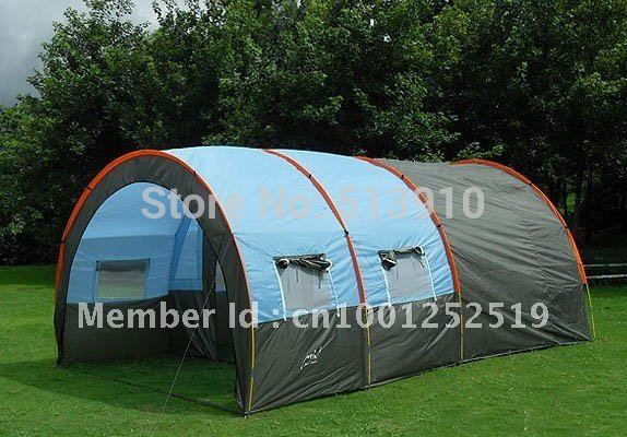 10persons large family tent/camping tent/tunnel tent/1Hall 2room party tent outdoor double layer 10 14 persons camping holiday arbor tent sun canopy canopy tent