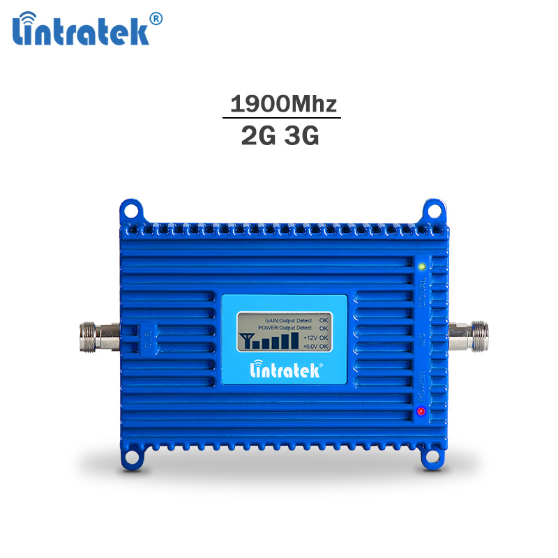 Lintratek GSM Signal Repeater 2G 1900Mhz 3G UMTS Smartphone Signal Booster PCS 1900 70dBi AGC Powerful Amplifier No Antenna #8.4