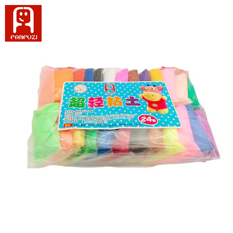 24 colors *13g/set Fimo Colored Clay Polymer Plasticine Modelling Clay Play dough Light DIY Soft Creative Handgum Toys Cl