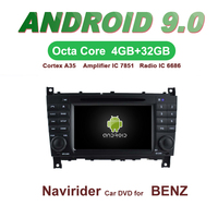 OTOJETA Car GPS 7inch Android 9.0 Radio FOR BENZ C CLASS CLC W203 G Class W467 2004 2007 Capacitive screen support mirror link