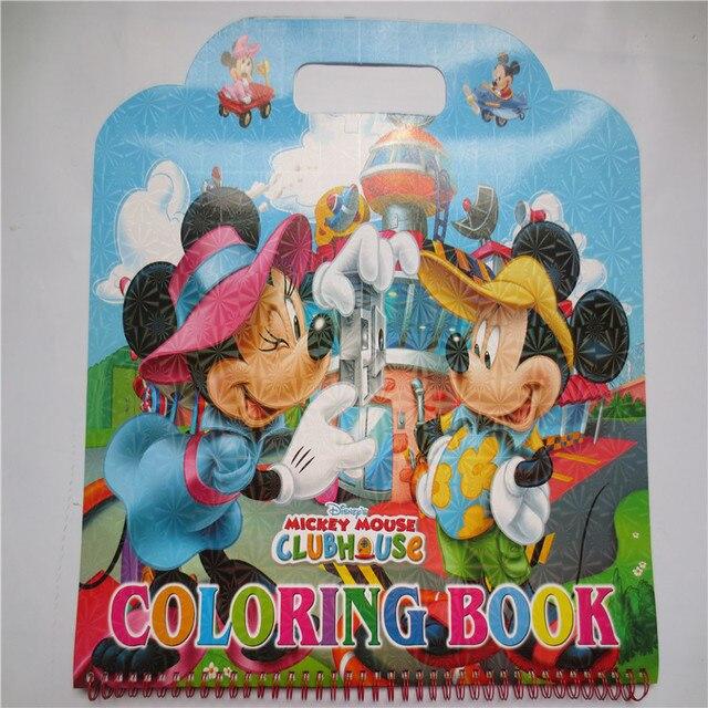 819 51 руб 35 скидка портативный большая картина мультфильм раскраски наклейки микки с 30 страница скрап бумага детские развивающие игрушки купить