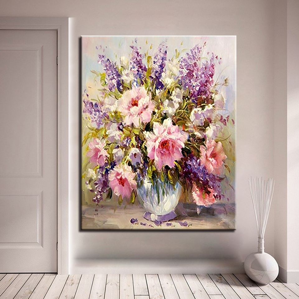 Diy Colorful Rooms: Colorful Flowers Diy Painting By Numbers Kits Drawing