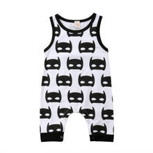 Summer Casual Cotton Newborn Baby Boys Girls Batman Romper Jumpsuit Playsuit Clothes Outfit Sleeveless Sunsuit(China)