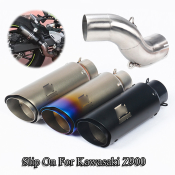 Slip On Z900 Stainless Steel 51MM Exhaust No DB Killer Muffler Tips Tail Pipe Middle Tube For Kawasaki Z900 Motorcycle Modified