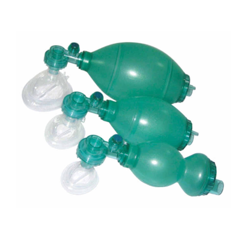 First Aid Disposable SEBS Resuscitator With mask Rescue medical SEBS with 100% Latex Free  first-aid devices