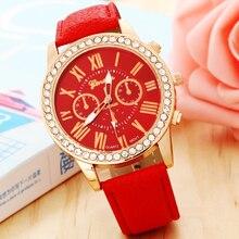 Luxury Ladies' Jewelry Watches Rhinestone Plated Leather Strap Stainless Steel Women's Fashion Cusual Quartz Wrist Watch Women