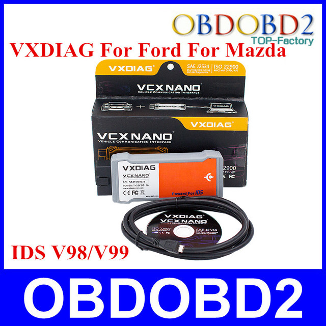 Allscanner VXDIAG VCX NANO Replacement for Ford VCM 2 Multi-Language Newest For Ford For Mazda 2 IN 1 Powered by IDS V98
