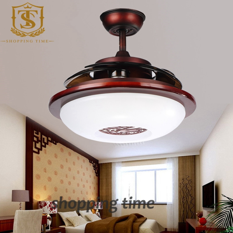 32 ceiling fan indoor outdoor chinese style small 32 inch ceiling fan light invisible blades lamp 3005ain fans from lights lighting on aliexpresscom alibaba group