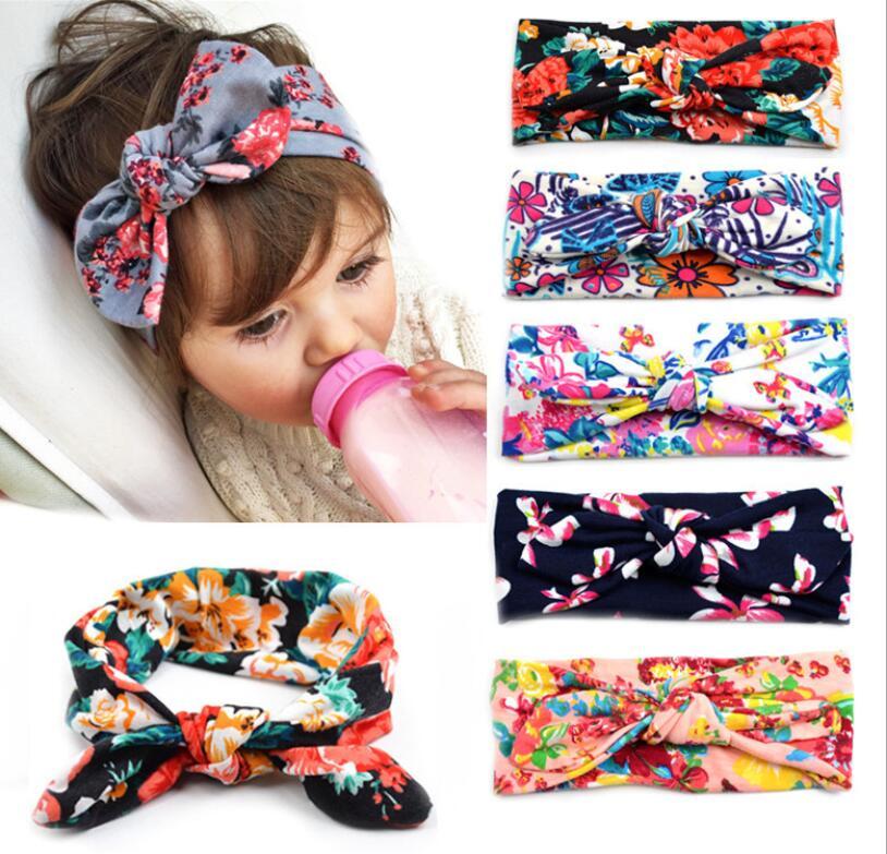 1 Piece MAYA STEPAN Headwrap Baby Headbands Headwear Girls Retro Hair Print Hairband Rabbit Ears Head Band Infant Newborn Floral