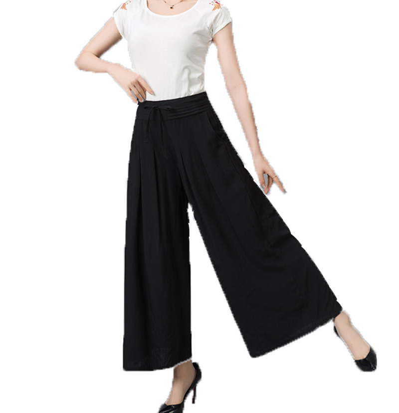 Popular Black Linen Capris-Buy Cheap Black Linen Capris lots from ...