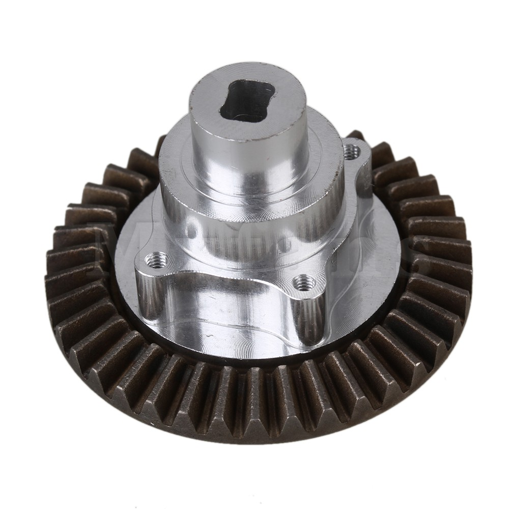 Mxfans 3.7cm Dia Silver Aluminum Alloy 180009 Connect Box with 38T Main Gear for HSP 94180 RC 1:10 Rock Crawler Upgrade Parts