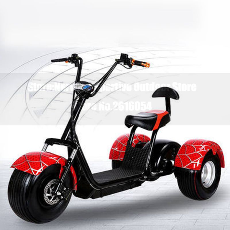 Citycoco Electric Scooter E-Bike 60V 500W 9.5 Inch Vacuum Fat Tire Electric Three Wheel Motorcycle Bike Adult Women Men Scooter economic multifunction 60v 500w three wheel electric scooter handicapped e scooter with powerful motor