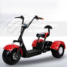 Citycoco Electric Scooter E-Bike 60V 500W 9.5 Inch Vacuum Fat Tire Electric Three Wheel Motorcycle Bike Adult Women Men Scooter
