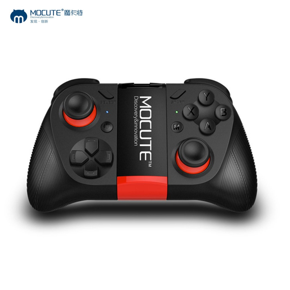 Mocute 050 Wireless Bluetooth Grip Gamepad Remote Control Joypad Selfie Shutter Joystick Game Controller For PC Game/Smartphone