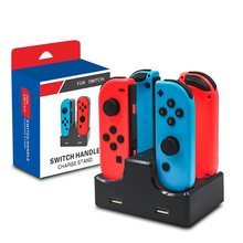 6-In-1 Pengisian Dock Station untuk Nintendo Switch NS 4 Joy-Con & 2 Pro Controller Charger Stand dengan 2 Usb untuk PS4 Ponsel(China)