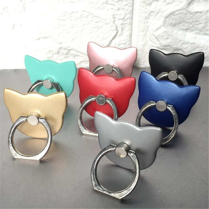 UVR Cat Animal Mobile Phone Stand Holder Finger Ring Smartphone Cartoon Holder Stand For Xiaomi Huawei All Phone