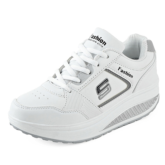 נשים סניקרס הליכה נעלי הרזיה פלטפורמת נעלי נשים כושר נשים נעלי drop גובה הגדלת נעלי נדנדה
