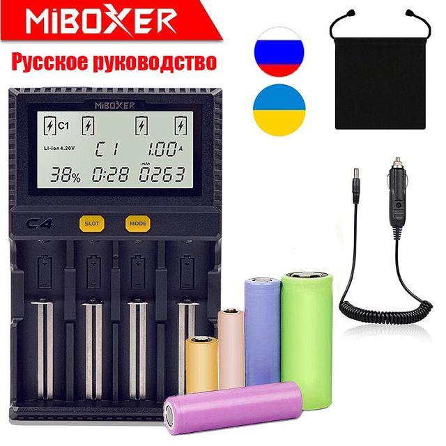 Originele Miboxer C4 VC4 D4 LCD Batterij Lader voor Li-Ion/LiFePO4/Mh/Ni-Cd 18650 14500 26650AAA4. 2 3.7 1.2 1.5 V gratis verzending