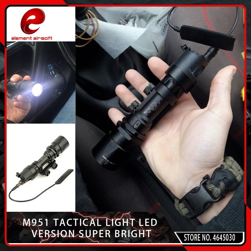 Sports & Entertainment Confident Seigneer Airsoft M951 M961 Flashlight Mount Softair 20mm Rail Weapon Gun Lamp Tactical Light Hunting Accessories Ex289