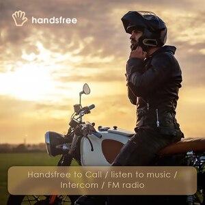 Image 3 - Fones de ouvido para motociclista qtbe6, headset sem fio para capacete de moto, à prova dágua, sem fio, para 2 pilotos