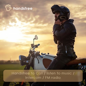 Image 3 - VR robot Motorcycle Bluetooth Intercom QTBE6 Waterproof Wireless Moto Helmet Headset Handsfree FM Raido Interphone for 2 Riders