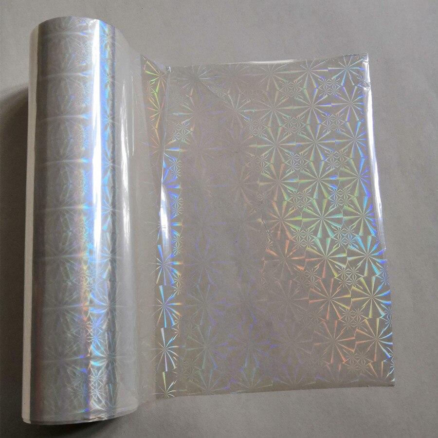 Holographic Foil Transparent Chrysanthemum Pattern Stamping Foil Hot Press On Paper Or Plastic  Transfer Film