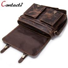 4b15ea99cd8a Контакта для мужчин сумки планшеты пояса из натуральной кожи сумка кожаные  сумочки мужской портфель Винтаж(