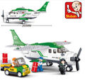 Candice guo plastic toy building block model game birthday christmas gift Aviation Transport plane car airplane birthday gift