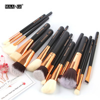 MAANGE 15Pcs Makeup Brushes Set Pinceis Maquiagem Foundation Contour Blending Brush Full Professional Makeup Kit Beauty