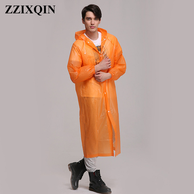 New Men Women PEVA Thickening Travel Equipment Adult Disposable Raincoat  Outdoor Hiking Camping PE Transparent Rain Coat Poncho e665c33804ad