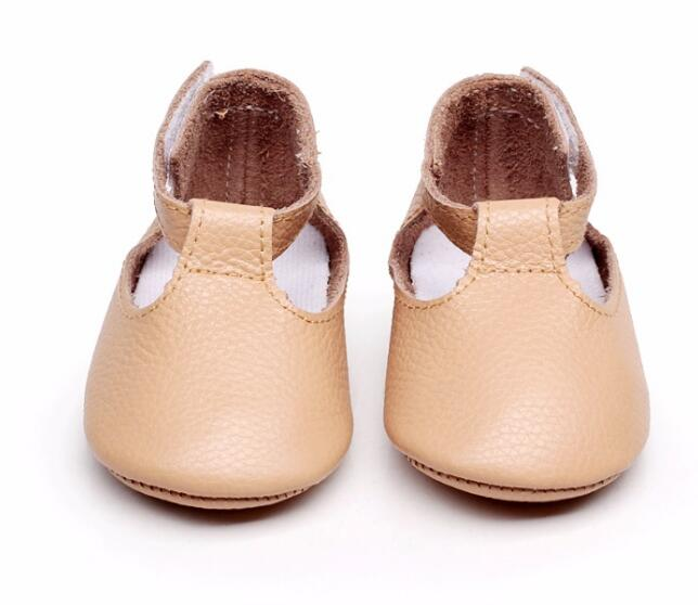 New Genuine Leather baby girl shoes Prewalkers Newborn toddler moccasins First Walkers Mary jane shoes soft sole for 0-24M