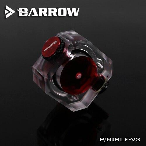 Купить с кэшбэком BARROW Water Flow Velocity Meter ( Electronic Data sensor ) SLF - V3 Water Cooler System Transparent Filter Flow meter
