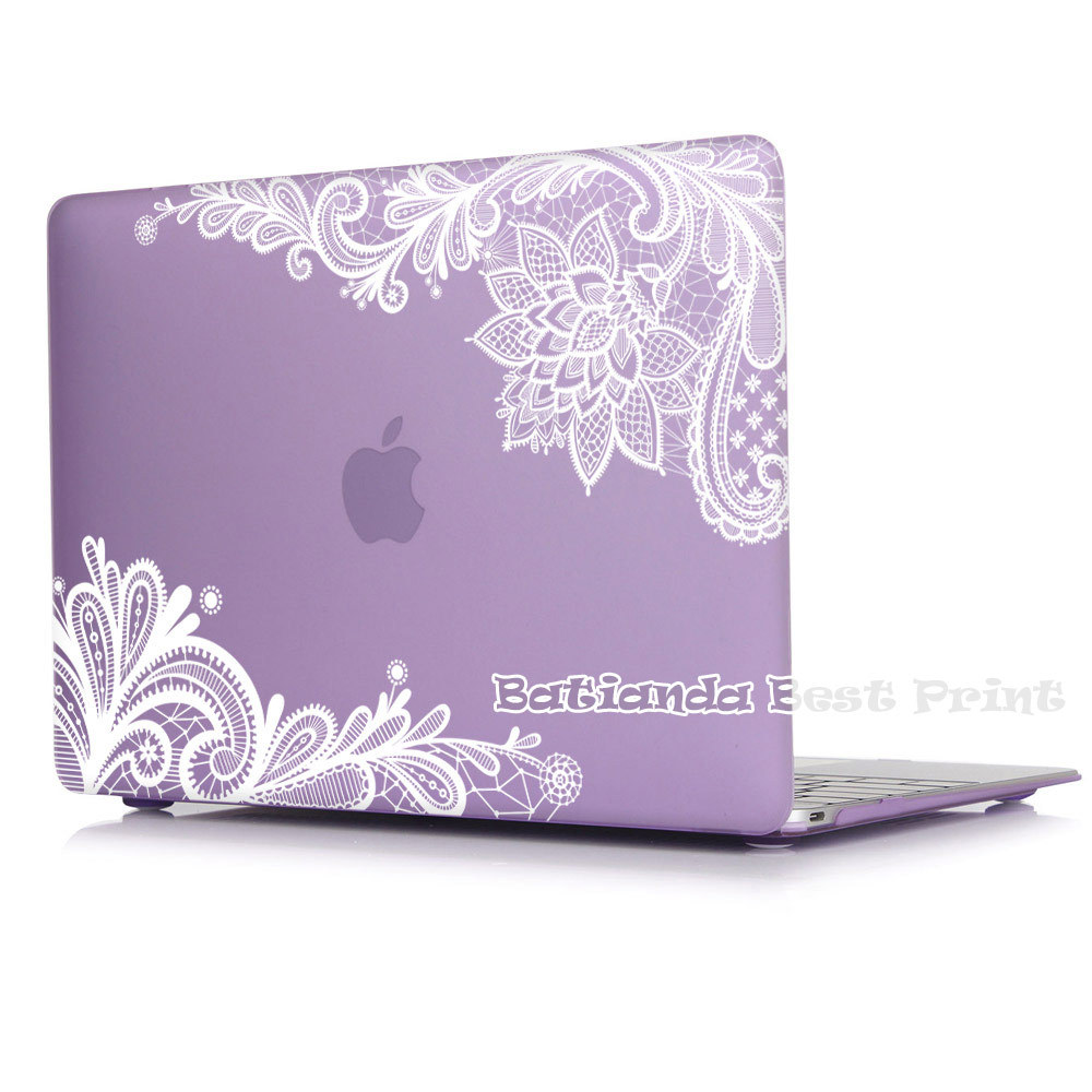 new fashion for girls matte lace hard case cover for macbook air 13 12 11 pro 13 15 inch with. Black Bedroom Furniture Sets. Home Design Ideas