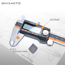 GHIXACTO Stainless Steel Digital Vernier Caliper 6 Inch 150mm Electronic 3 Mode LCD Micrometer Depth Measuring Tools