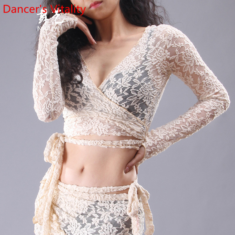 New Belly Dance Clothes Sexy Deep V Neck Dance Top For Women Latin Dance Long Sleeves Tops S,M,L