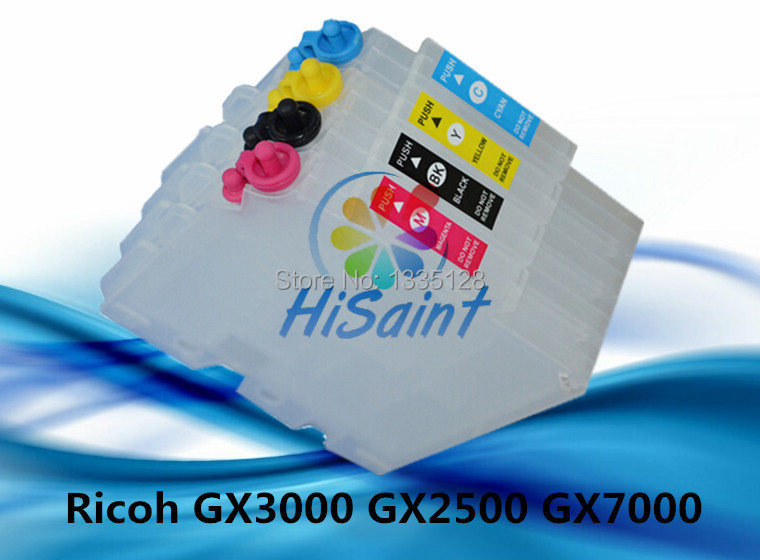 GC21 refillable ink cartridge for Ricoh GX7000 GX5000 GX3000 GX2500 GX2050 GX3050 printers with resettable chip