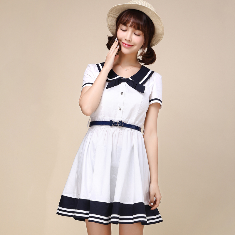Aliexpress.com : Buy 2015 Summer Style Sailor Dress Peter Pan ...
