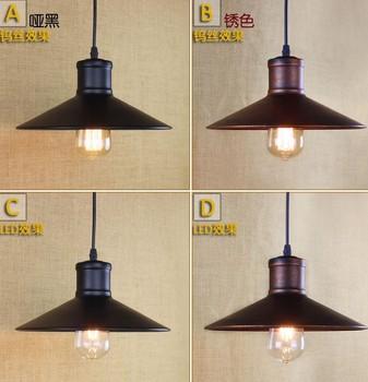 Loft Style Iron Droplight Edison Industrial Vintage Pendant Light Fixtures For Dining Room Hanging Lamp Lustres De Sala