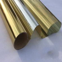 Office Solar Mirror Window Film One Way Perspective Gold Silver Reflective Privacy Film For Building Decorative Film 40*500cm film tint solar gold silver mirror effect for window building vlt 15% 1 52mx30m 5ftx100ft