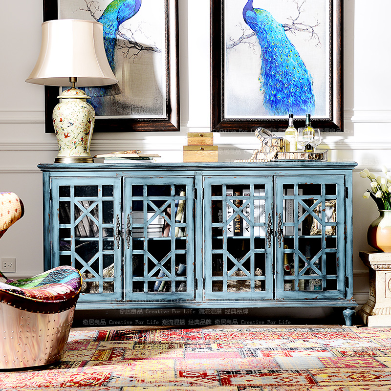 [Brand Group] Odd Ranks Yield COMSTAR Heightening Bedroom TV Cabinet / Entrance Cabinet / Sideboard Blue H