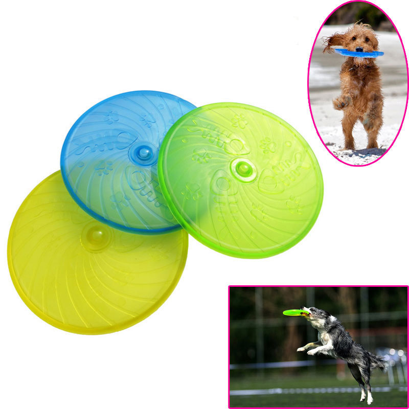 Plastic Pets dog Flying Disc Outdoor Playing Toy Resistance to bite Toys For Pet Cat Supplies Dog Training