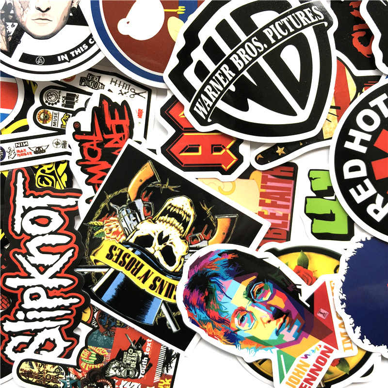 52 шт./компл. Рок & Roll смешанные хип хоп наклейки граффити ПВХ игрушка для ноутбука скейтборд чемодан чехол для гитары музыка PunkF5