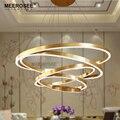 Большие кольца  светодиодные подвесные светильники  золотые светодиодные светильники  светодиодный декоративный светильник акриловый под...