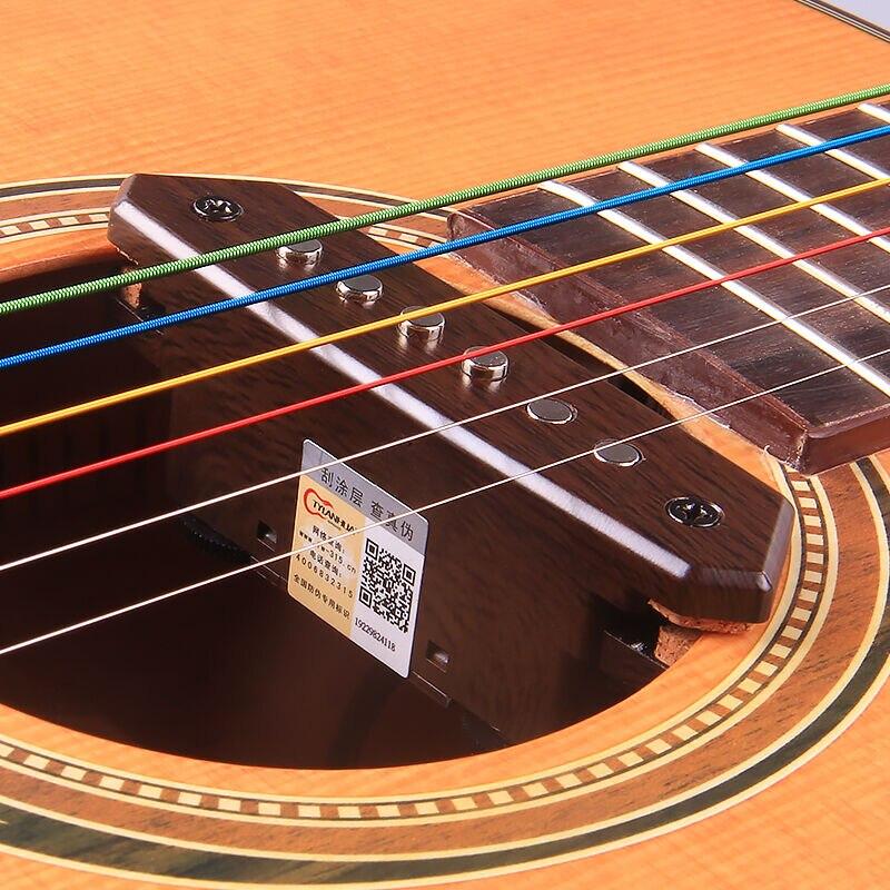Système de préampli micro-guitare A810 avec Piezo éviter l'ouverture 39-42 pouces guitare basse acoustique trou de son micros pièces accessoires