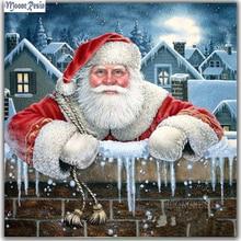 MOONCRESIN Christmas Diy Diamond Painting Cross Stitch Santa Claus Meditation Embroidery Needlework Mosaic Resin