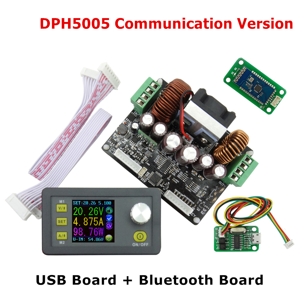 DPH5005 LCD display voltmeter Constant Voltage current Step-down Programmable digital control Power Supply Module Buck 40% off diy kit dc dc adjustable step down regulated power supply module belt voltmeter ammeter dual display