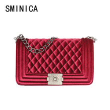 luxury women messenger bags suede ladies handbags shoulder female handbag  famous brands diamond woman chain tote bag hasp S11107 0f0ce1bd7f66c